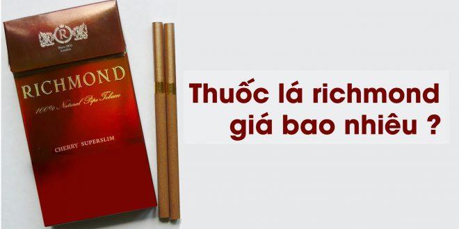 Thuốc lá richmond giá bao nhiêu?